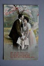 R&L Postcard: Afternoon Tea, Garden Teapot, Chairs, Glamour Romantic Verse