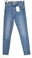 Topshop Super Skinny JAMIE High Rise Blue Stretch Jeans Size 6 L32