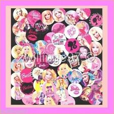 100 Precut assorted BARBIE DOLLS Movie BOTTLE CAP IMAGES Variety 1 inch discs