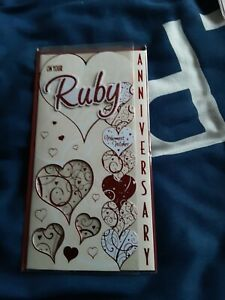 On your ruby anniversary Card BNIP