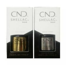 CND Shellac set base 12,5 ML + TOP COAT 15 ML 100% ORIGINALE MADE IN USA Kit Set