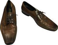 JONES BOOTMAKER Oxford Formal Shoes Size UK 8 EU 42 Brown Leather Derby Lace up-