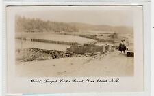 WORLD'S LARGEST LOBSTER POUND, DEER ISLAND: New Brunswick postcard (C28779)
