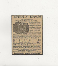 48/440 ANZEIGE AUS EINER ZEITUNG WERBUNG KLINGENTHAL MEINEL & HEROLD FABRIK