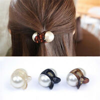 Women Fashion Pearl Hair Claw Barrettes Crystal Hair Clips Mini Hair Accessories