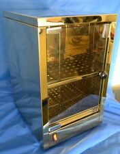 NEW Gold Chromed Stainlees Steel Small Cup Warmer with Door, 2 Shelves