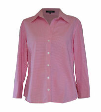 ** Jaeger ** Cotton Shirt ** Size 14 ** Pink Check (Gingham) ** Spring **