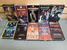 Lot of 10 VHS Movies Prison Witching Satans Scanners Munster House +++ (DH909)