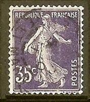 "FRANCE TIMBRE STAMP N° 142 "" SEMEUSE FOND PLEIN SANS SOL 35c "" OBLITERE TB"