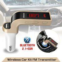 Car Bluetooth FM Transmitter Wireless MP3 Aux Music Radio Player Kit & USB Port