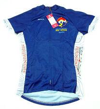 Primal Women's Sport Cut Raglan Cycling Jersey Small Ride The Rockies Blue