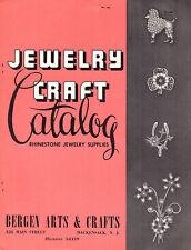 Rhinestone Jewelry Supplies Vintage Catalog Bergen Arts & Crafts Hackensack NJ