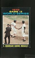 1971 Topps # 329 F. Robinson Shows Muscle! Ex-Mt