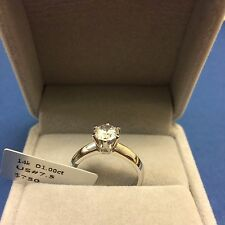 1 CT DIAMOND ENGAGEMENT Bridal RING 14K WHITE GOLD TONED Women's Ring Size 7.5