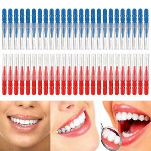 50 Dental Orthodontic Interdental Brush Toothpick Between Teeth Gap Cleaning Kit