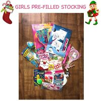 Girls Pre-Filled Christmas Stocking Unicorns Trolls Stuffed With Over 20 Items
