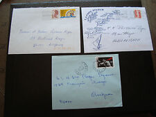 FRANCE - 3 enveloppes 1990 1991 1992 (cy34) french