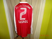 FC Bayern München Adidas Langarm Matchworn Trikot 2003/04 + Nr.2 Sagnol Gr.XL