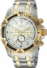Invicta Mens Pro Diver Quartz Watch W/ Stainless-Steel Strap, Two Tone, 18.5