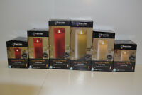 Premier Battery Operated Dancing Flame Candle with Timer S/M/L in Red-Ivory-Gol