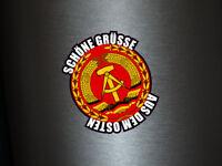 1 x Aufkleber Schöne Grüße Aus Dem Osten DDR Fahne Deutschland Ossi Sticker Fun