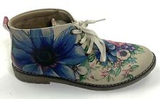 Goby Floral Womens Booties Boots Colorful Size 8 EU 38