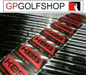 1x KBS tour V 90 Stiff Steel Parallel iron Shaft .370 Tip With shaft bands