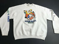 Vintage 90s Broncos Packers Super Bowl XXXII 1998 Sweatshirt Size XL USA Made