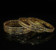 Indian Ethnic Bollywood 18K Gold Plated Bangles Women Traditional Jewelry 2*8