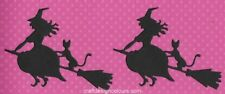 DIE CUTS - FLYING WITCH BROOM AND CAT