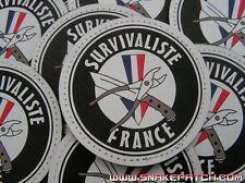 SNAKE PATCH PVC - SURVIVALISTE FRANCE - survie bushcraft mora light fire