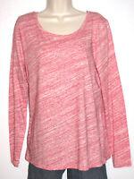 Ann Taylor Loft Women's Long Sleeve Stretch Spacedye Print Cotton Top Size Large