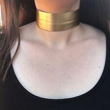 Gold Thick Metallic Choker Necklace