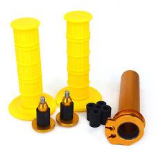Twister Throttle Tube Bar Grips Cap End Plugs For Suzuki DRZ400R/S/SM DR250S/R