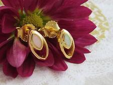Ovale Echtschmuck im Ohrstecker-Stil aus Sterlingsilber für Damen