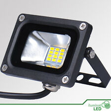 Flood Light IP65 LED Warm White Waterproof Outdoor Black Case - 10W 12V - 720Lm