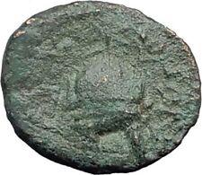 Orthagoreia in Macedonia 350BC RARE R1  Ancient Greek Coin APOLLO HELMET i63781