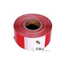 Rubalise plastique blanc rouge  50 x 100 Mètres