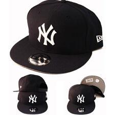 New Era New York Yankees Snapback Hat Navy White Logo Basic Cap Made in U.S.A