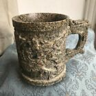 Old Vintage Hand Carved Sculpted Stone Marble Dragon Cup Beer Stein Fine China A
