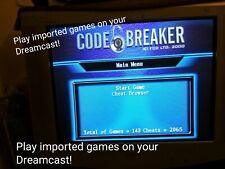 Code Breaker - Cheats & Play Imported Games - Sega Dreamcast - Region FREE DC-X