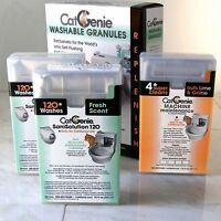 CatGenie 120 Self-Cleaning Litter Box Scented Refill Combo Plus Maintenance