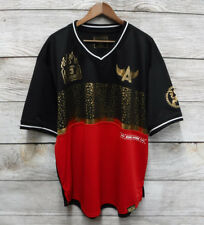 Switch T-Shirt Big Mens 4XL Red & Black Gold Hustle Hard Polyester Slim Fit New