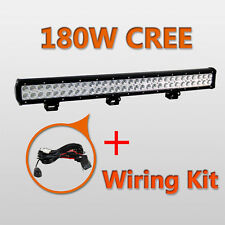28Inch 180W 4D Cree LED Work Light Bar Combo Beam Offroad Fog Light+Free Wiring