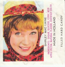 RARE VIGNETTE PRIME BONBONS 60'S *ACTRICE / SHIRLEY MAC LAINE*(MADE IN HOLLAND)