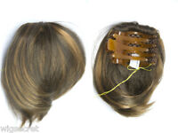 Short 6 in clip on extension hairpiece