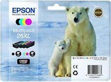 EPSON T2636 26XL ORIGINAL SET OF 4 INKS POLAR BEAR T2621 T2632 T2633 T2634 fm UK