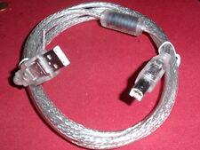für höchste Ansprüche! USB KABEL A-B mit FERRIT-FILTER 180cm  50 Kabel Top!!