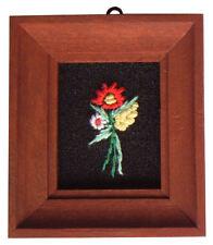 Casa De Muñecas Hecho a mano en miniatura de los años ochenta Bordado imagen oscuras marco Flor Mix 2