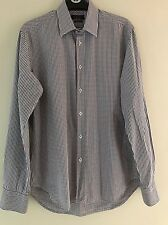 Mens Long Sleeve Shirt Zara Man Tailored Fit Checked Shirt Size 15 - Collar 15.5